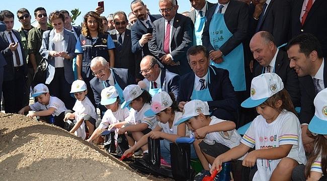 """Bakan Selçuk'un Katılımıyla Osmaniye'de """"Tohumdan fidana, fidandan ağaca"""" etkinliği"""