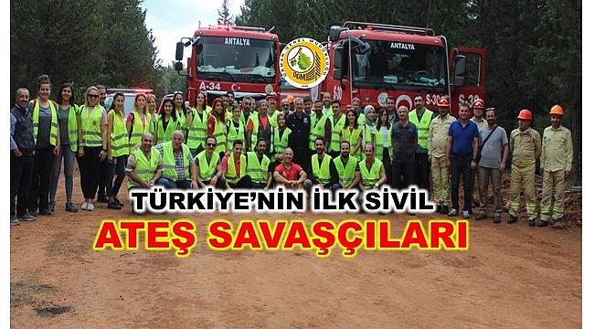 Türkiye'nin ilk sivil orman yangını söndürücüleri