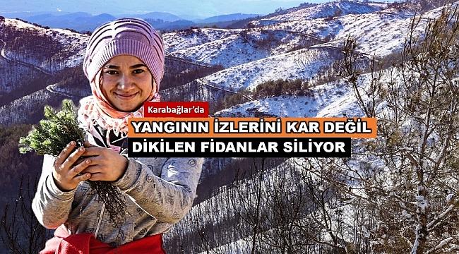İzmir'de Ormancılar Yazın Köz , Kışın Buz Üzerinde Çalışmaya Devam Ediyor