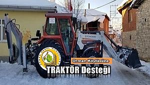 Kütahya'da köylülerin kurduğu kooperatife traktör desteği