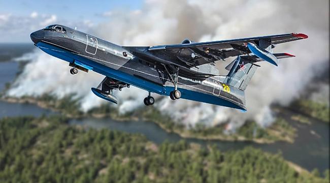12  Ton Su Taşıyan Yangın Uçağının Üretimi Tamamlandı