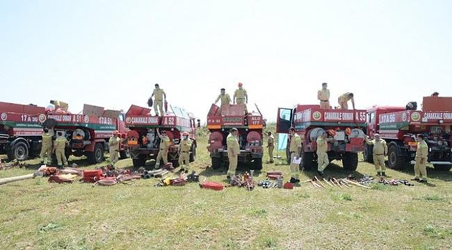 Çanakkale'nin Ateş Savaşçıları Orman Yangınlarına Hazır