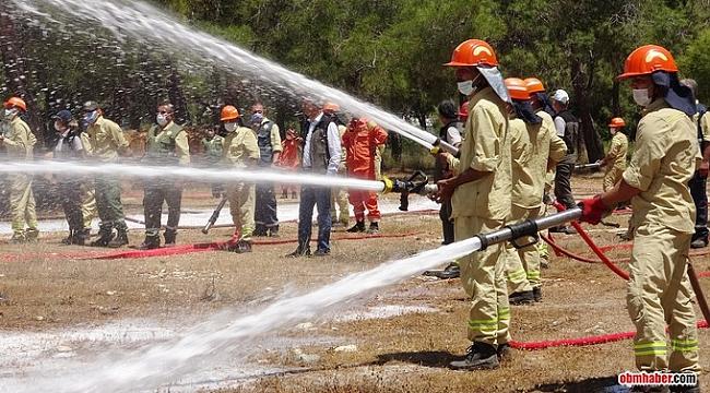 Mersin´de yangın savaşçıları sezona hazır