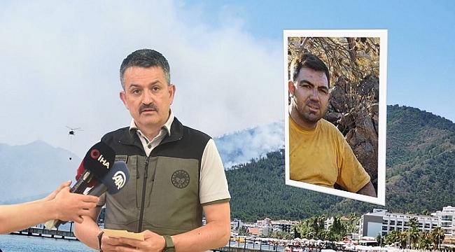 Bakan Pakdemirli'den Marmaris'teki orman yangınıyla ilgili açıklama