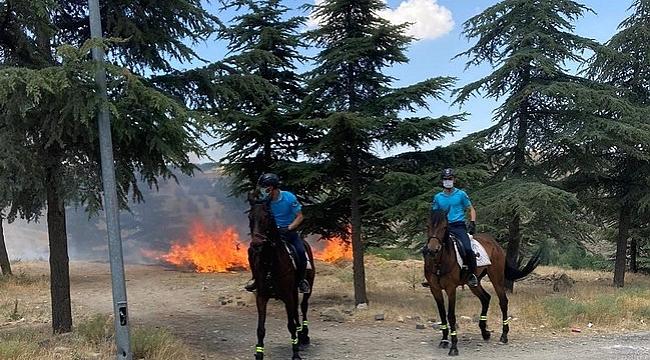 Doğum günü yangınla bitti, atlı jandarmalar fark etti