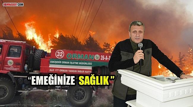 Eskişehir Ormanlarının Ateş Savaşçılarına Teşekkür